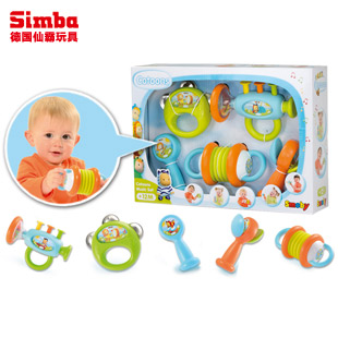 仙霸SMOBY智比 宝宝乐器5件套 组合玩具 音乐启蒙早教玩具 1-2岁